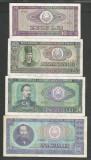 ROMANIA  LOT / SET 4 buc  : 10 + 25 + 50 + 100  LEI  1966  [4]  stari VF+ / XF