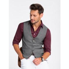 Vesta premium, eleganta, barbati - V45-negru