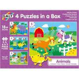 Cumpara ieftin Set 4 puzzle-uri, Animalute, 2, 3, 4, 5 piese, Galt