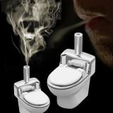 Pipa fumat, Creativa, mi?to, Forma closet toaleta, bol, durabila, Portabila, pipa fumat