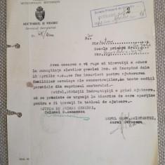 1940, Adresa primăria București, col. G. Iannescu, Aurel Stroescu, olografe