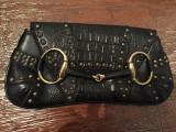 Clutch Gucci vintage horsebit, Negru, Mica