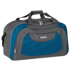 Geanta sport de voiaj, 50x23x29.5 cm , albastru/gri, 33 litri