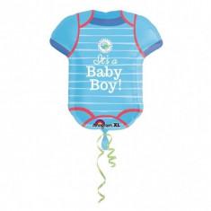 Balon botez folie metalizata Figurina Body It's a Baby Boy 55x 60 cm