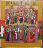 ACOPERAMANTUL MAICII DOMNULUI, ICOANA RUSIA, PALECH, SECOL XIX