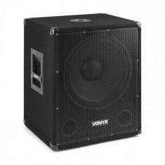 "Vonyx SMWBA15, subwoofer activ 15"", conector de flanșă, 600 W max., MP3, BT"