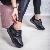 Pantofi Piele dama negri Rocama