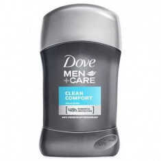Deodorant antiperspirant stick Dove Clean Comfort pentru barbati, 50 ml