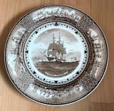 Farfurie - de colectie - portelan Englezesc - Wedgwood - Nava cu vele - 1951