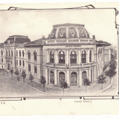 812 - CRAIOVA, High School CAROL, Romania - old postcard - used - 1905