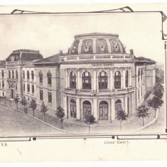 812 - CRAIOVA, High School CAROL, Romania - old postcard - used - 1905