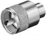Mufa UHF pentru RG59 max. 6mm, Goobay