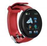 Cumpara ieftin Bratara Fitness Smartband Techstar® D18 Waterproof IP65, Incarcare USB, Bluetooth 4.0, Display Touch Color OLED, Rosu