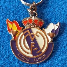 Breloc metalic (vechi) fotbal - REAL MADRID