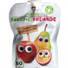 Piure de mere pere si fructul pasiunii bio 100g