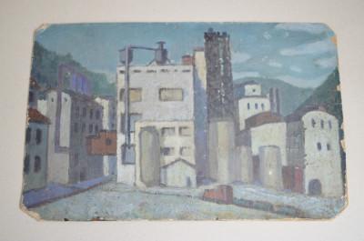 Uzina veche pictura ulei pe mucava foto