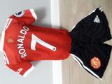 Echipament fotbal pentru copii Manchester United Ronaldo model nou