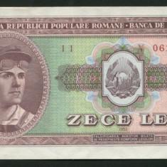 u310 ROMANIA 10 LEI 1952 SERIE ROSIE UNC NECIRCULATA
