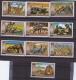 106-RUANDA 1972-Serie completa de 10 timbre nestampilate-Animale,MNH, Nestampilat