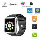 Ceas smart bluetooth 4.0, functie telefon, camera 3 MP, 17 functii, touchscreen, negru
