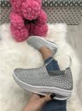 Pantofi espadrile dama argintii marime  41+CADOU, Din imagine