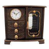 Cumpara ieftin Ceas de masa, cu trei sertare si ceas, 21 cm, 1533G-1
