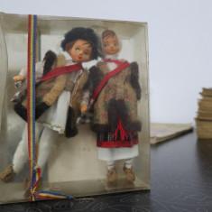Set papusi vechi Cooperativa arta Crisana Oradea - 12 cm - in ambalaj original