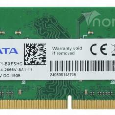 Memorii Ram Laptop Adata 8GB DDR4 PC4-2666V 2666Mhz