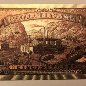 500 Lei 1949 bancnota superba polimer innobilata argint Horia Closca si Crisan
