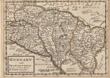 Harta veche, originala, tiparita in 1736!