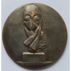 DOMNISOARA POGANY - 1913 - MEDALIE BRONZ, MUZEUL DE ARTA CRAIOVA 1987