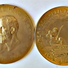 MEDALIE PROBA GALVANOPLASTIE CAROL I EXPOZITIUNEA ROMANABUCURESTI 1906 REGALISTA
