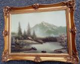 Ulei pe panza o lucrare veche de o foarte bună calitate, Natura, Impresionism