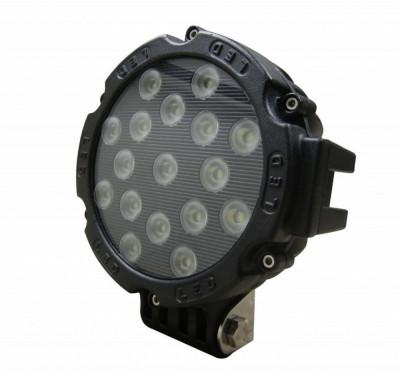 Proiector LED Auto Offroad 51W/12V-24V, 3740 Lumeni, Negru, Spot Beam 30 Grade foto