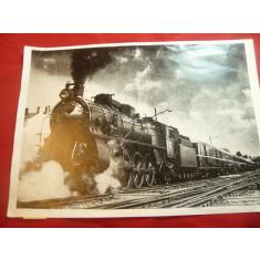 Fotografie tiparita - Locomotiva si tren , format A5