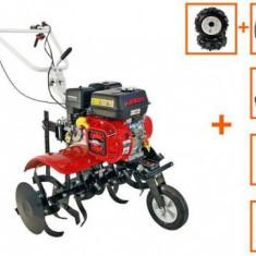 Motocultor Loncin LC750 ECO, 7 CP, cu roti C. + plug + rarita + prasitoare + roti M.