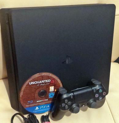 Consola Sony Playstation 4 (PS4) SLIM 1TB Jet Black + 2 jocuri foto