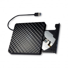 DVD-Writer extern, CD/DVD RW burner extern pe usb 3.0, unitate optica pe USB 3.0