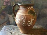 Arta si Traditie - Vechi vas taranesc realizat si decorat manual din lut !