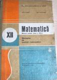 Matematica manual pentru clasa a XII-a