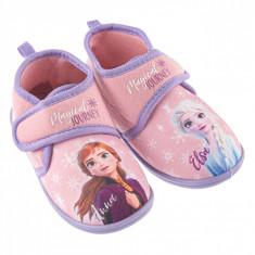 Botosi de casa pentru fetite, model Frozen, marime 30, multicolor
