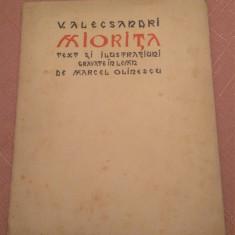 Miorita. Cu dedicatie si semnatura lui Marcel Olinescu, 1940 - V. Alecsandri