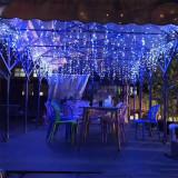 Instalatie tip turturi, 4 metri cu 100 de leduri – Lumina Albastra