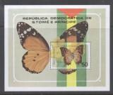 Sao Tome e Principe 1979 Butterflies Mi.B32 perf. sheet, MNH DA.139, Nestampilat