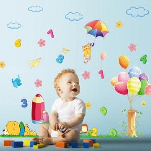Sticker decorativ copii Sa ne jucam cu numerele
