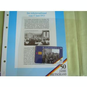 3 Cartele Telefonice 50 Jahre Deutschland - Exponate NOI / 12