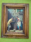 Tablou inramat, rama veche, Made in Austria, Peisaje, Ulei, Altul, ART