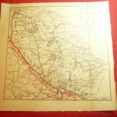 Harta Militara Romaneasca - Situatia Frontului la sfarsitul lunii dec.1916 ,dim=