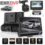 Cumpara ieftin Camera Video Auto Blackbox, Full-HD, 3 Camere Filmare, 4'' G Senzor, 170 grade