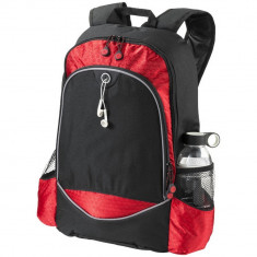 Rucsac Laptop, Everestus, BN, 15 inch, 600D poliester, negru, rosu, saculet de calatorie si eticheta bagaj incluse